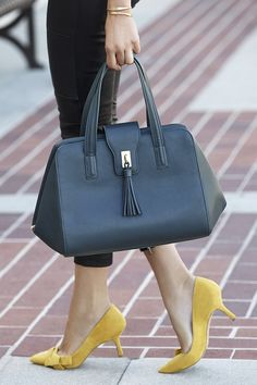 Polished, structured tassel handbag in a rich pine green for fall | Sole Society Morris