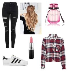 """""""Untitled #1"""" by ria-chance ❤ liked on Polyvore featuring Topshop, Rails, adidas, MAC Cosmetics, Victoria's Secret, women's clothing, women, female, woman and misses"""