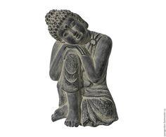 Купить Статуэтка Будды подвесная серая с эффектом старины (бетон, гипс) - серый…