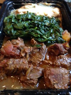 Spicy Ethiopian Beef Tibbs with Chopped Spinach and Hearts of Palm Puree Chopped Spinach, Steak, Spicy, Palm, Hearts, Beef, Recipes, Food, Meat
