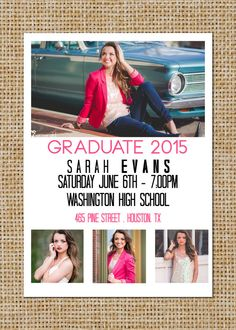 High School College Preschool Graduation Invitations Ashleys