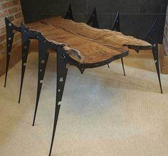 The Arachnitab Spider Table – Luxury Mixture of Man made Steel and Luxury Natural wood | Bossluxury