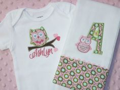 Girl Baby Shower Gift Set  personalized set by SassyJunebugDesigns, $26.00