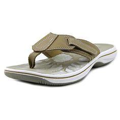 adf9f60827e09 CLARKS Womens Brinkley JoJo Open Toe Casual Flip Flops Flip