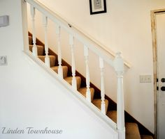We'll need a new staircase and I like these spindles. New Staircase, Townhouse, New Homes, Stairs, Home Decor, Stairway, Decoration Home, Terraced House, Room Decor