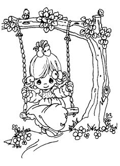 AMAZING PRECIOUS MOMENTS COLORING PAGES
