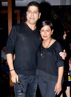 Murli Sharma and wife Ashwini Kalsekar at Sudhanshu Pandey's 40th birthday bash. #Bollywood #Fashion #Style #Beauty