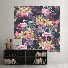 Naklejka ścienna Tropikalne Flamingi
