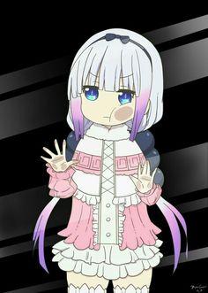 Kanna Kamui - Kobayashi-san chi no maid dragon Anime Lock Screen Wallpapers, Anime Wallpaper Phone, Animes Wallpapers, Loli Kawaii, Kawaii Anime, Maid Dragon Kanna, Anime Chibi, Anime Manga, Anime Behind Glass