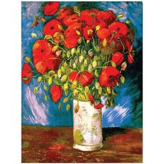 Poppies Giclee Canvas Art, Size: 35 x 47, Multicolor
