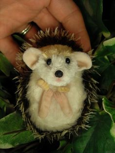 OOAK (One Of A Kind) Minatures & Dolls House Creations TreasuredByU Clay Sculpt Furred Baby Hedgehog