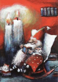 Santa is... reading! ^^