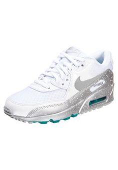 AIR MAX 90 - Sneaker - white/metallic silver/turbo green