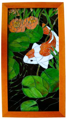 koi mosaic. i'd love to have a piece of artwork like this to hang in my someday-to-be apartment or home