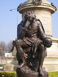 "The Gower Memorial - Hamlet Statue in Stratford upon Avon by ell brown, via Flickr ""Mad but south-southwest"""