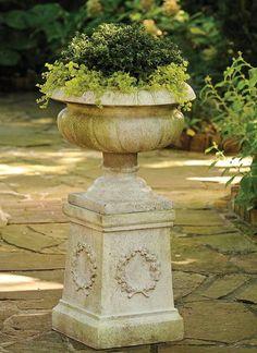 Antique Reproduction Fiberglass Urns <3