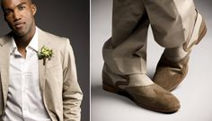 Casual tan cotton wedding suit from Nordstrom, beach wedding outfit, photography by J. Garner Studios