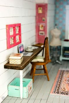 Who, What, Where, Dollhouse Office/Studio - Everything you need to know about where I found everything and how I did it.