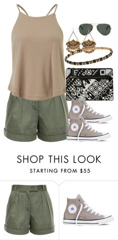"""""""Untitled #1931"""" by erinforde ❤ liked on Polyvore featuring Vilshenko, Taya, Converse and Ray-Ban"""