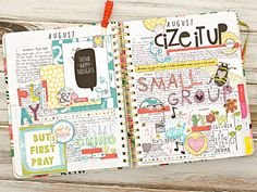 mixed media creative memory planning in a ban.do large agenda planner