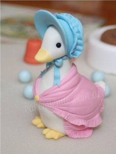 Image result for how to make a jemima puddleduck with fondant icing