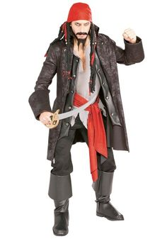 This adult Captain Cutthroat pirate costume will strike fear in your enemies. You'll be set to find all the buried treasure this Halloween!