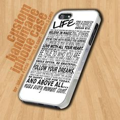 Life White Quotes  - iPhone 4 / 4s Case - iPhone 5 Case - Black Case - White Case on Etsy, $15.90