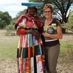 Wilma and this lovely lady exchanging in Botswana. #Botswana #People #Culture