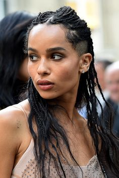 Zoë Kravitz arrives at Valentino Fashion Show during Paris Fashion Week: Haute Couture F/W 2016-2017 on July 6, 2016 in Paris, France.