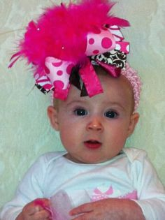 Pink Over the Top Bow by SengelaubsBoutique on Etsy, $15.99