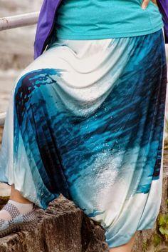 Zdolność - Tworzenia: Jak uszyć szarawary czyli spodnie alladynki. Tutorial cz. I. Tie Dye Skirt, Ballet Skirt, Costumes, Sewing, Diy, Fashion, Feltro, Do It Yourself, Moda