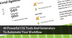 40 Powerful CSS Tools And Generators To Automate Your Workflow