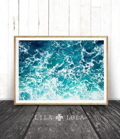 Beach Print, Ocean Waves Decor, Coastal, Wall Art, Turquoise Blue Aqua Abstract, Gift, Ocean Water Print, Coastal Wall Art, Printable Art by lilandlola on Etsy https://www.etsy.com/listing/263400169/beach-print-ocean-waves-decor-coastal