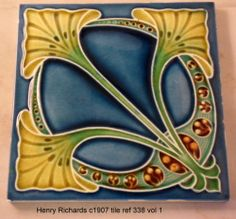 Art Nouveau Tile by Henry Richards c1907 tile ref 338 volume 1
