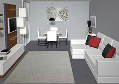 Salas de TV Modernas Living Pequeños, Living Room, Design Case, Second Floor, Decoration, My House, Sweet Home, Loft, Flooring