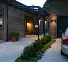 Style guide: stone and gravel to match the house Whilst early within strategy, this pergola Outdoor Spaces, Outdoor Living, Outdoor Decor, Timber Roof, Porche, Getaway Cabins, Roof Structure, Pergola Designs, Style Guides