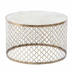 uttermost quatrefoil gold coffee table | quatrefoil, living rooms