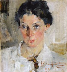 .:. Nikolai Ivanovich Fechin (1881-1955) - « Portrait N.N.Krotovoy » 1923   State Museum of Fine Arts of the Republic of Tatarstan