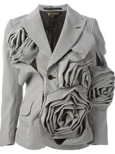 COMME DES GARÇONS - floral motif jacket 7
