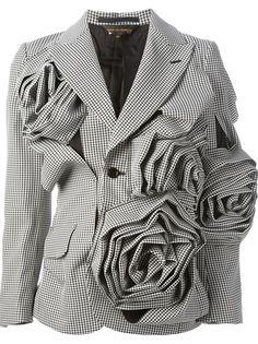 COMME DES GARÇONS - floral motif jacket