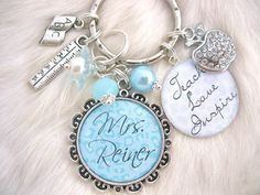 TEACHER GIFT Personalized Bottle cap Pendant by MyBlueSnowflake, $25.50