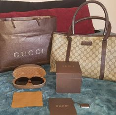 Gucci Bundle WATCH SOLD!!!!!?????? All in good conditions, it all has normal wear! Just don't use it anymore! Everything is authentic! Gucci Bags Shoulder Bags
