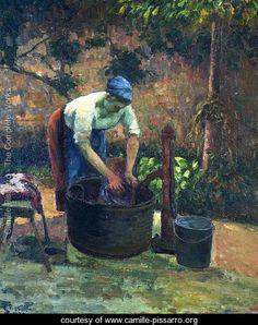 Washerwoman - Camille Pissarro
