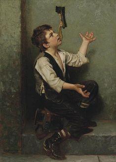 """""""The Juggler"""" -- by John George Brown (1831 – 1913, English-born American)"""