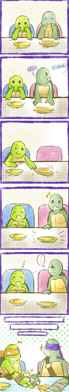 Donnie and Mikey :) Ninja Turtles Art, Teenage Mutant Ninja Turtles, Turtles Forever, Tmnt Comics, Tmnt 2012, Cartoon Shows, Nerd Geek, Disney Fan Art, Animation