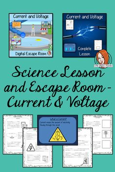 Current and Voltage Lesson and Escape Room Bundle This download teaches children about the Current and Voltage in an electrical circuit in one complete lesson There is a detailed 35 slide PowerPoint which explains what electricity, current and voltage are, how we measure current, what resistance is and looks at the different types of current, differentiated, worksheets to allow students to demonstrate understanding children can take part in a digital escape room to practice their new knowledge. All About Me Crafts, Role Play Areas, Escape Room, Science Lessons, Printable Worksheets, Primary School, Teacher Resources, Teaching Kids, Lesson Plans