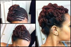 The Good Hair Blog - Protective Styling: Braided/Twisted Updo. #OfficiallyNatural #Braids #NaturalHair