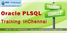 #OraclePLSQLtraininginchennai We are providing ORACLE PLSQL TRAINING IN CHENNAI and ORACLE RAC TRAINING IN CHENNAI for the people who want to have knowledge and experience in Oracle Database Administrator http://chennaioracledbatraining.in/