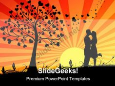 Couple Kissing Wedding PowerPoint Templates And PowerPoint Backgrounds 0311 #PowerPoint #Templates #Themes #Background