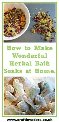 How to Make Wonderful Herbal Bath Soaks at Home These wonderful herbal bath soaks are great fun to make, fabulous for your health and well-being and can be tailored to suit the recipient. Leaky Gut, Bath Recipes, Soap Recipes, Bath Tea, Bath Soaks, Home Made Soap, Homemade Beauty Products, Natural Products, Diy Christmas Gifts